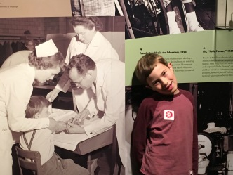 Noah at the Pittsburgh History Museum Salk exhibit