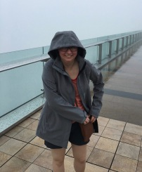 Adam and Emily brave the rains in Hong Kong